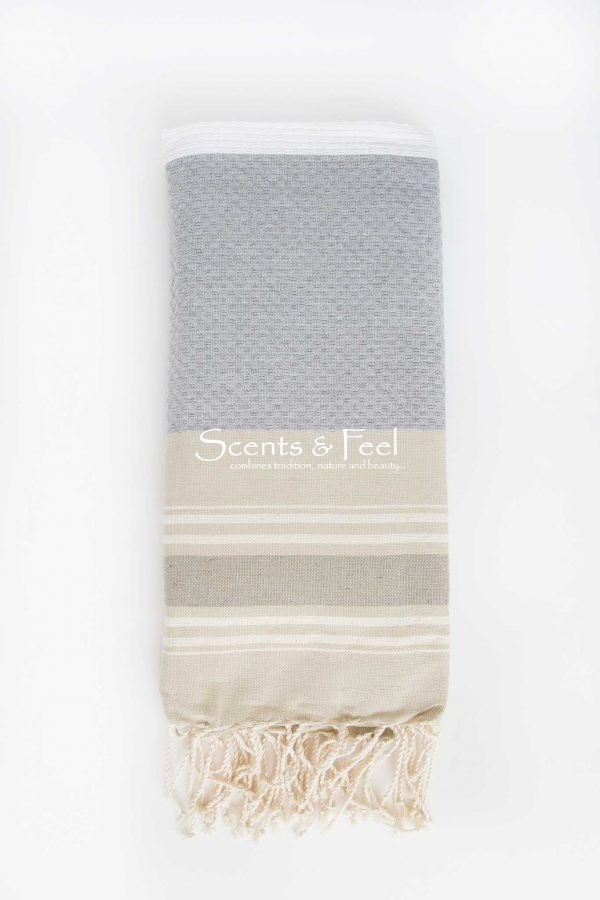 Fouta Beach Towel Multicolor White