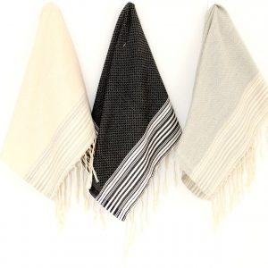 Guest towel Neutral Positive / Negative Thin Stripes