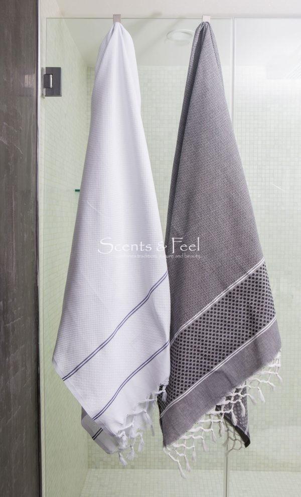 Fouta Towel Honeycomb Polka Dots Jacquard