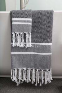 Fouta Bath Towel Herringbone 2 Stripes