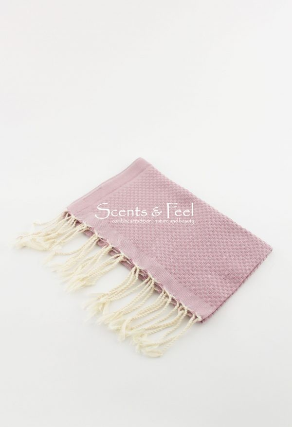 Fouta Hand Towel Solid Color Dusty Rose