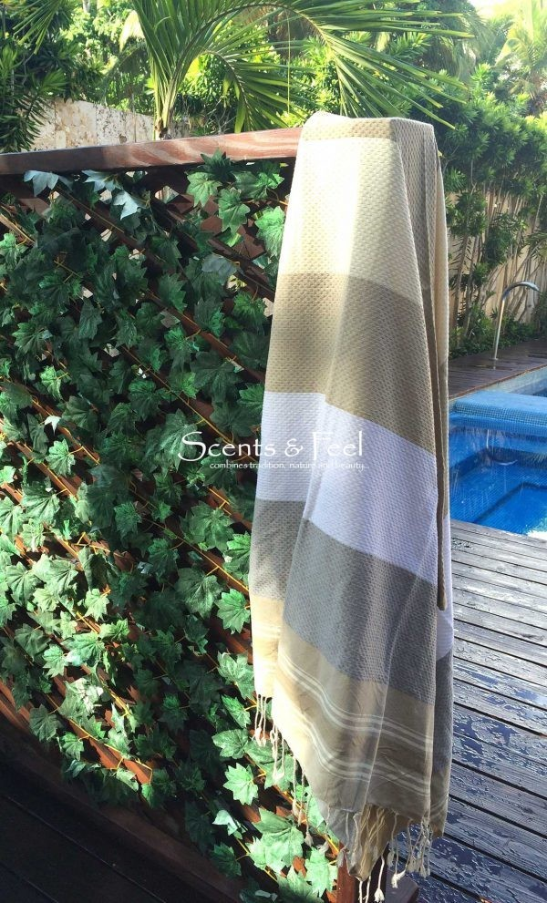 Fouta Beach Towel Multicolor Honeycomb