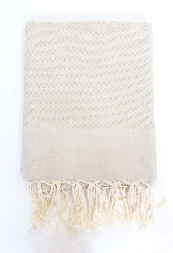 Fouta Towel Neutral Solid Color Honeycomb Beige