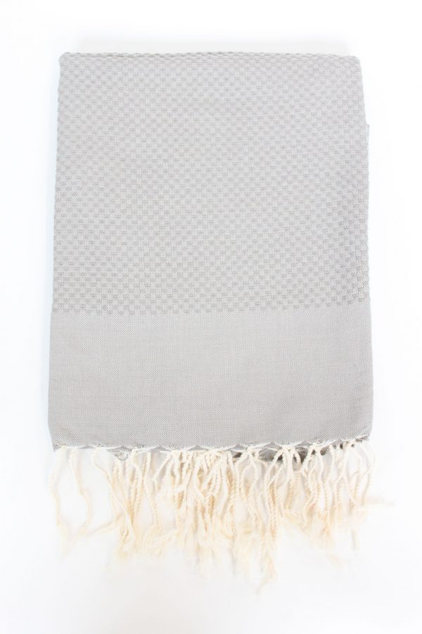 Fouta Towel Neutral Solid Color Honeycomb Mink