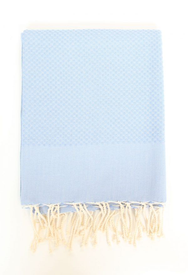 Fouta Towel Neutral Solid Color Honeycomb Serenity