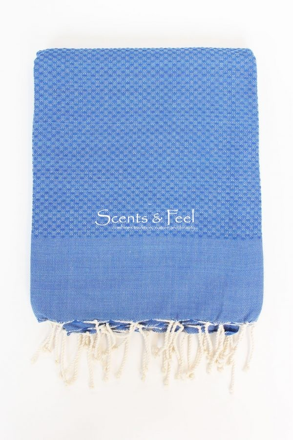 Fouta Solid Color Honeycomb Blue Jeans