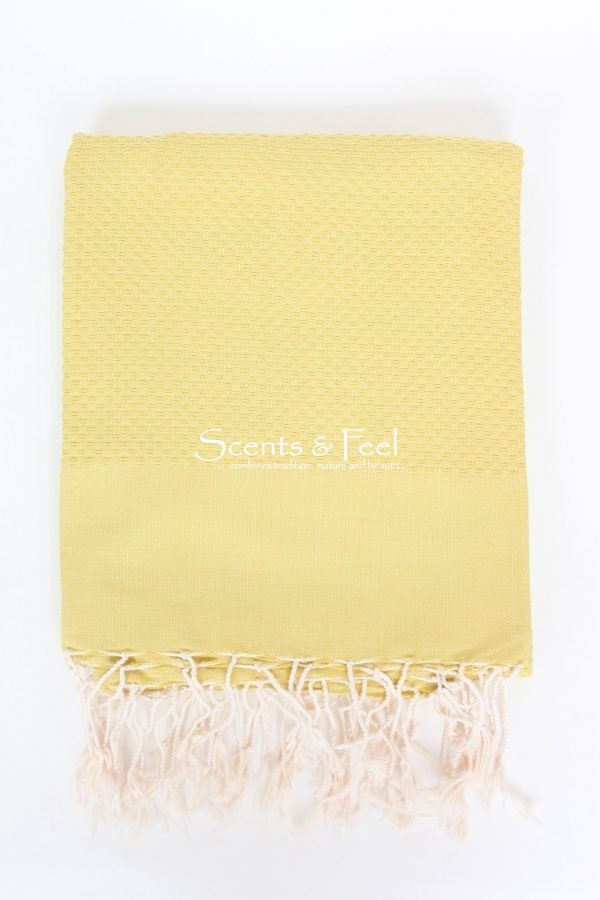 Fouta Solid Color Honeycomb Yellow