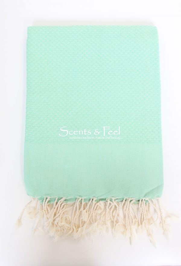 Fouta Solid Color Honeycomb Lucite green
