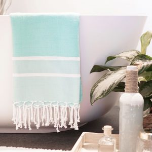 Fouta Towel Herringbone 2 Stripes