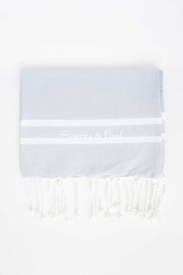 Guest Towel Herringbone 2 Stripes