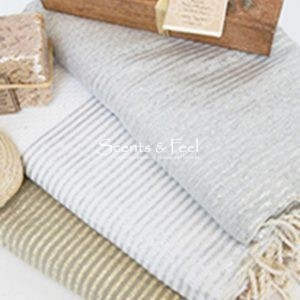 Fouta Honeycomb with Lurex Stripes