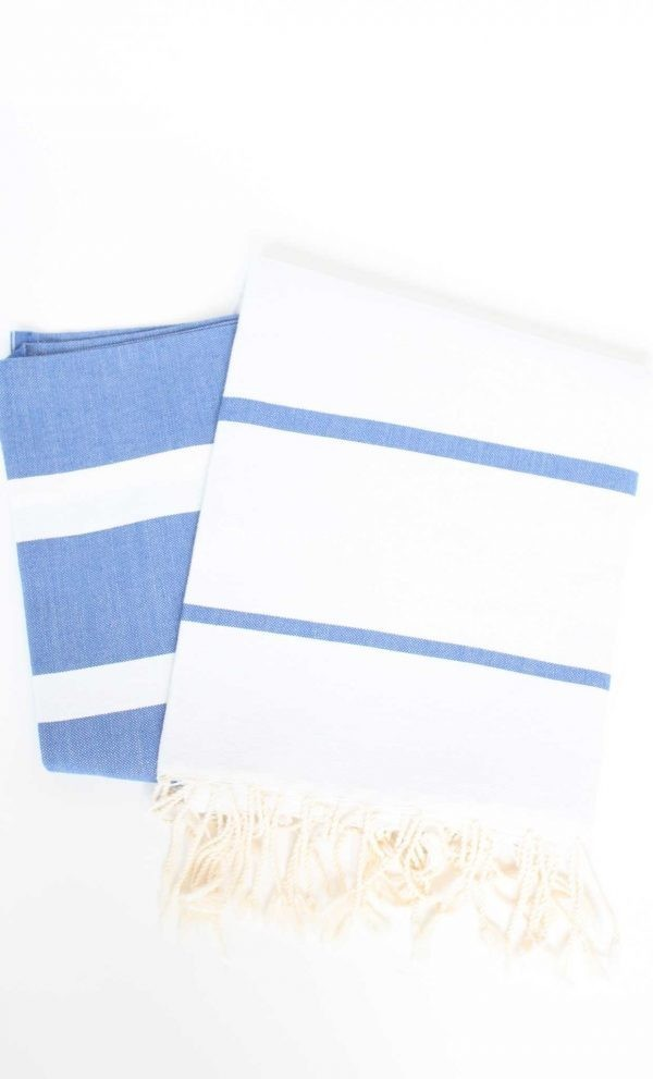 Turkish Towel Multiband Bicolor Canvas
