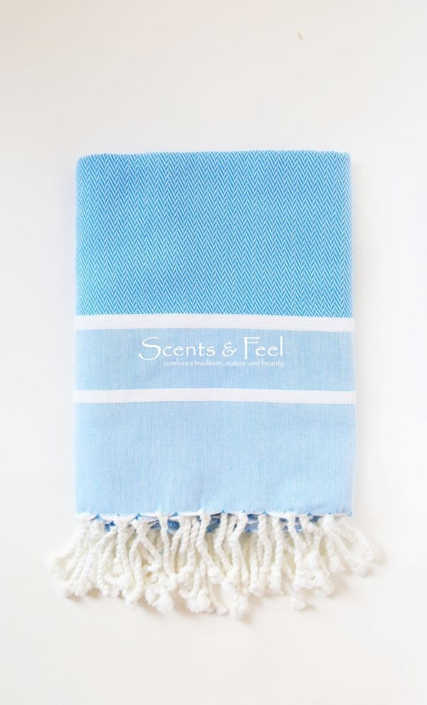 Fouta Guest Towel Herringbone 2 Stripes