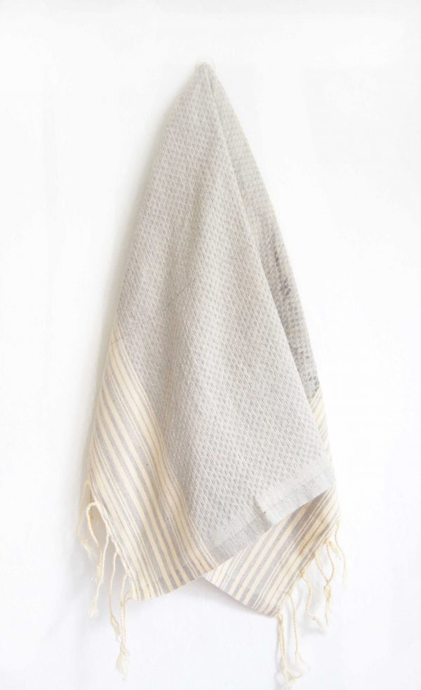Guest towel Positive / Negative Thin Stripes