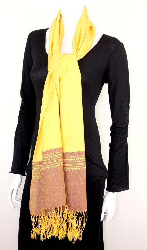 Shawl Band Stripes Silk and Cotton