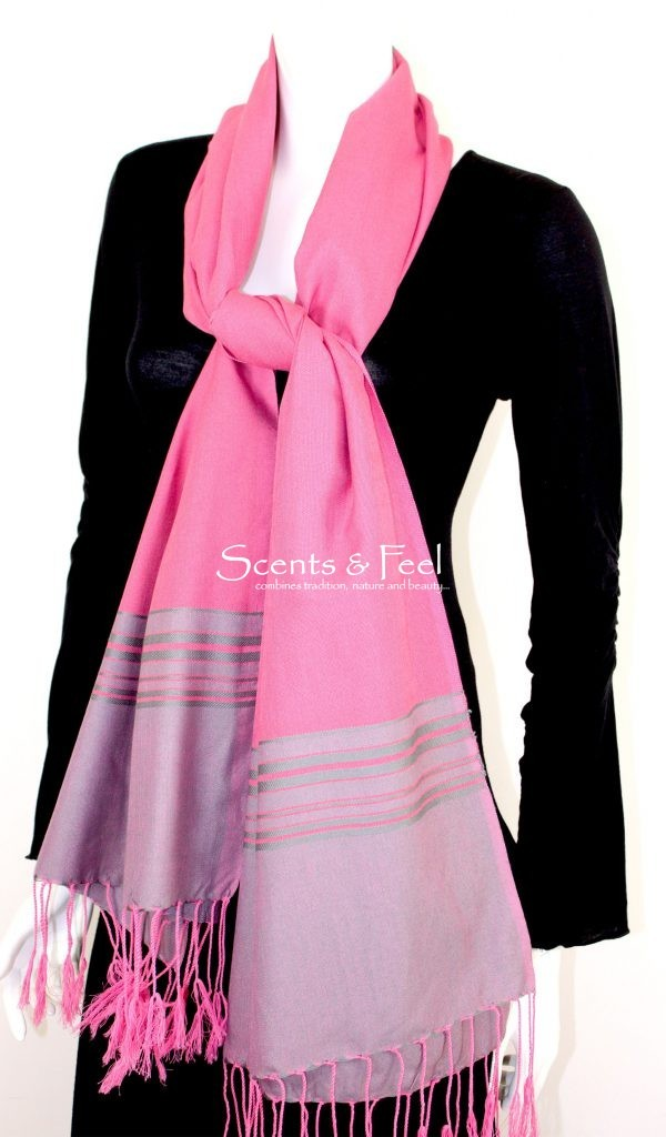 Shawl Band Stripes Silk and Cotton