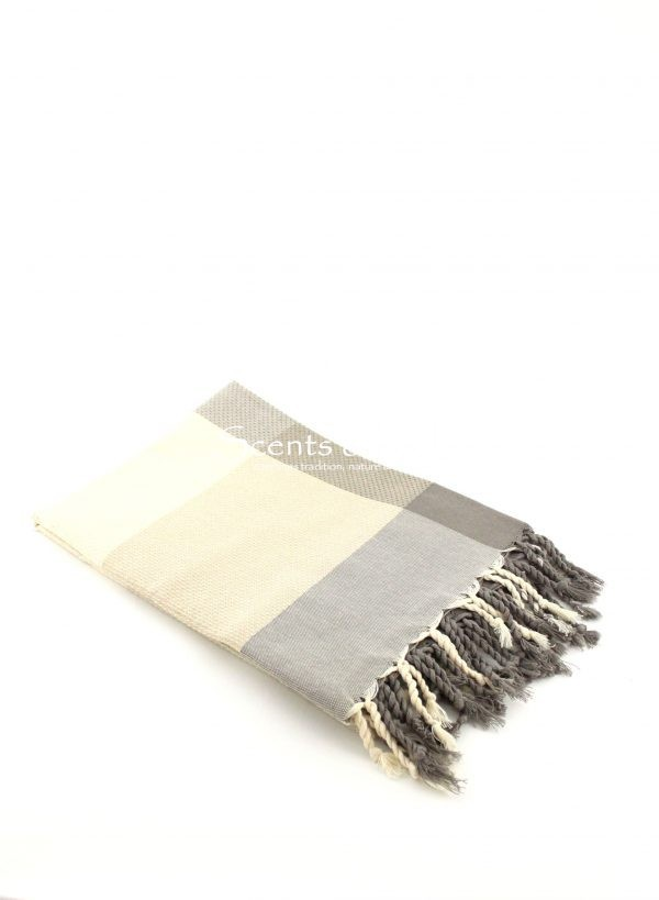Fouta Asymmetrical Stripes Honeycomb