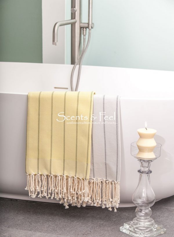 Fouta Herringbone Vertical Stripes