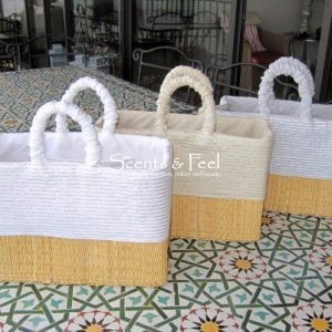 Hand Craft Basket with Lurex