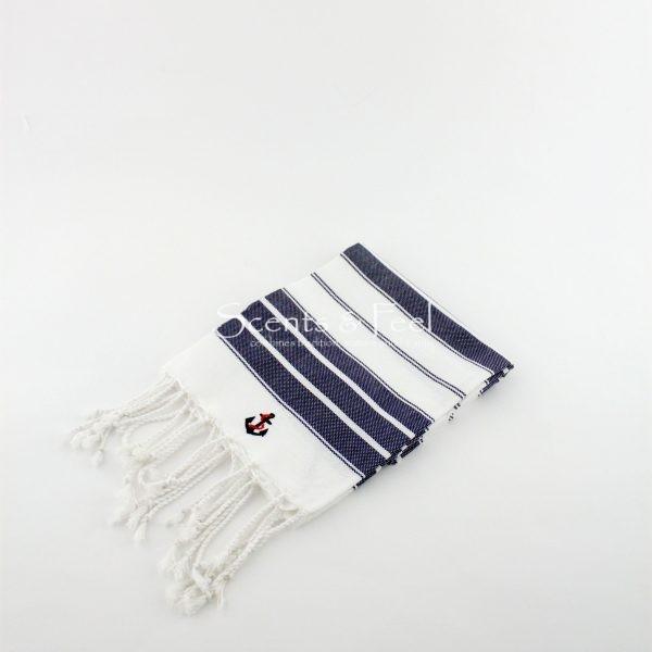 Guest Towel Canvas Bicolor Nautical