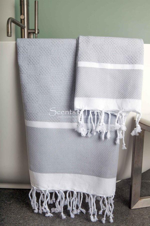 Fouta Towel Plaid Jacquard Honeycomb