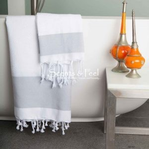 Fouta Towel Plaid Jacquard Honeycomb