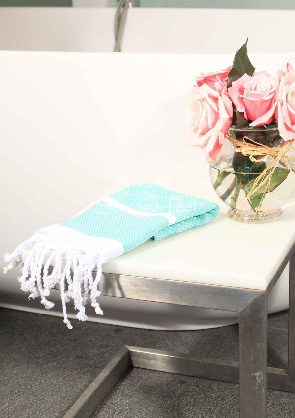 Guest towel plaid jacquard