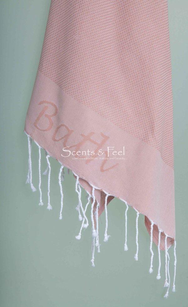 "Fouta Towel Honeycomb ""Bath"" Jacquard"