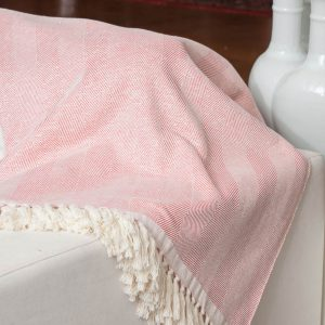 Herringbone Irridescent Throw Reversible
