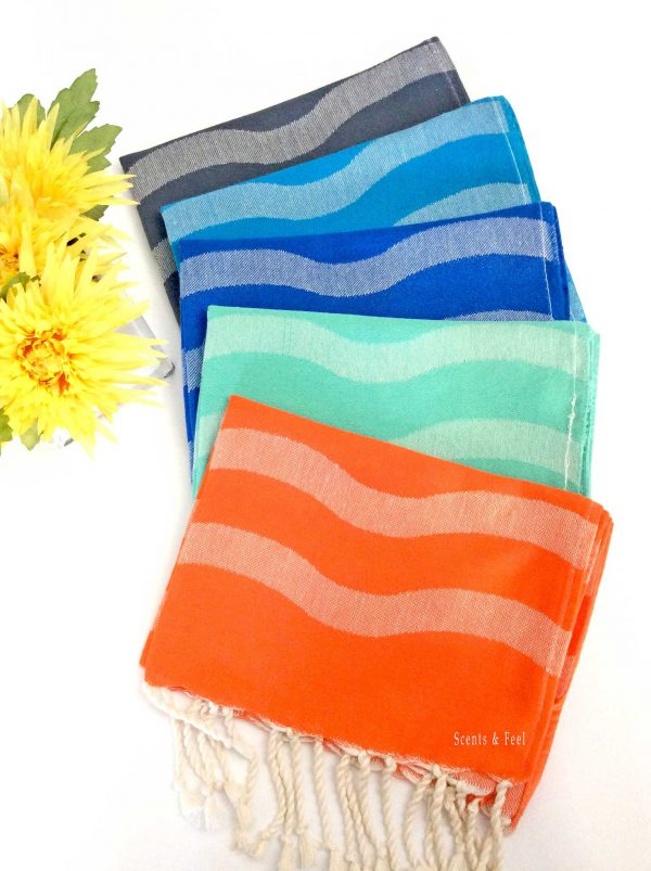 Turkish Guest Towel Wavy Stripe