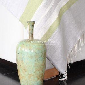 Throw Tricolor Stripes Linen/Cotton