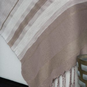 Throw Linen/Cotton/Bamboo Jacquard