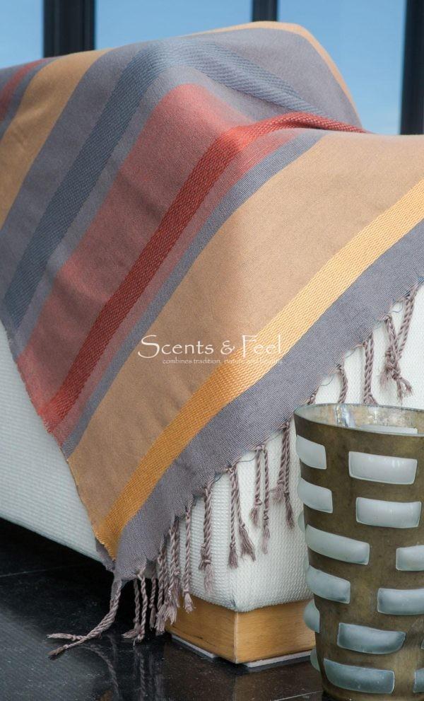 Throw Multi Bands Linen/Cotton/Bamboo