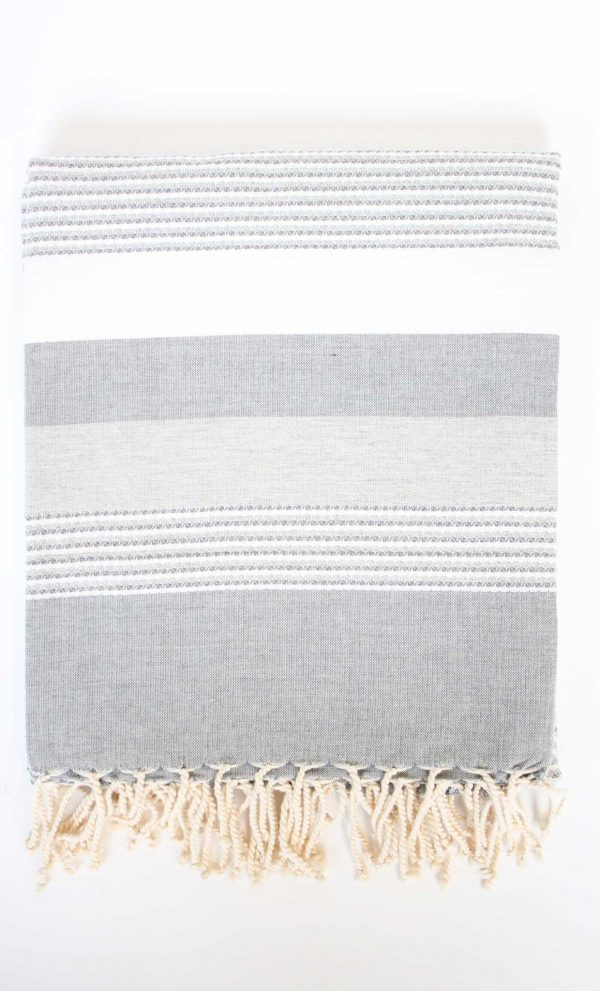 Fouta Ibiza Thin Stripes Grey