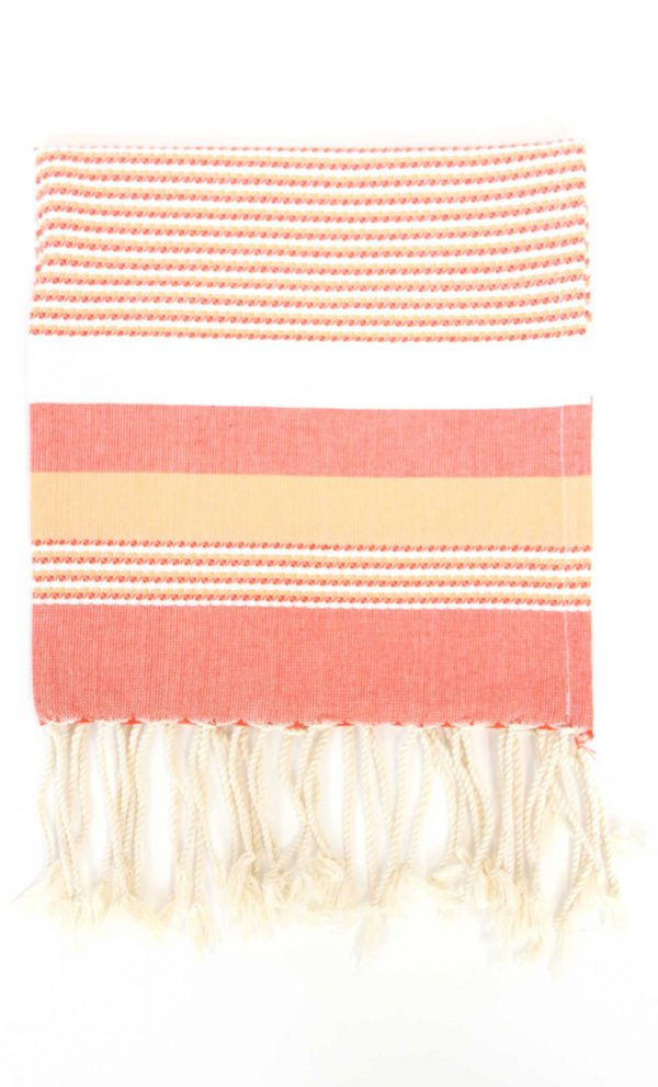 Fouta Ibiza Thin Stripes Orange