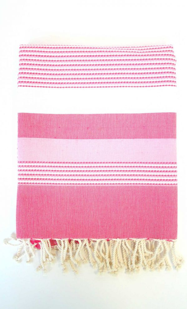 Fouta Ibiza Thin Stripes Fushia