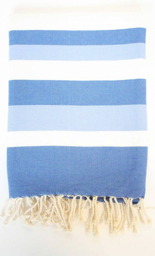 Turkish Beach Towel Ibiza Large Stripes Blue