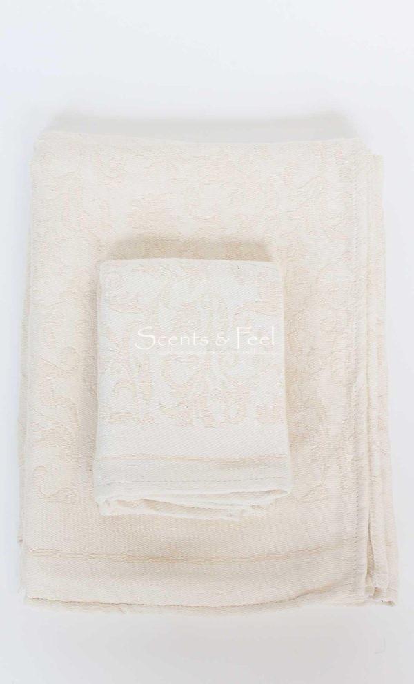 Fouta Guest Towel Fleur de Lys Beige