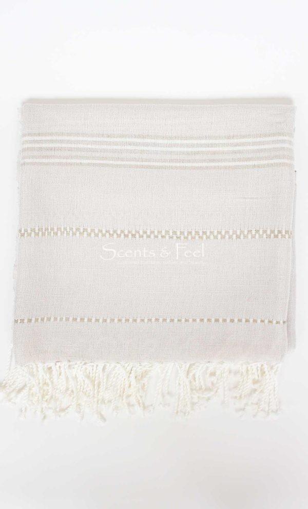 Throw Linen and Cotton Stitches Beige