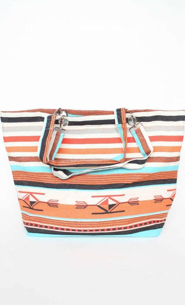 Beach Tote Boho Orange