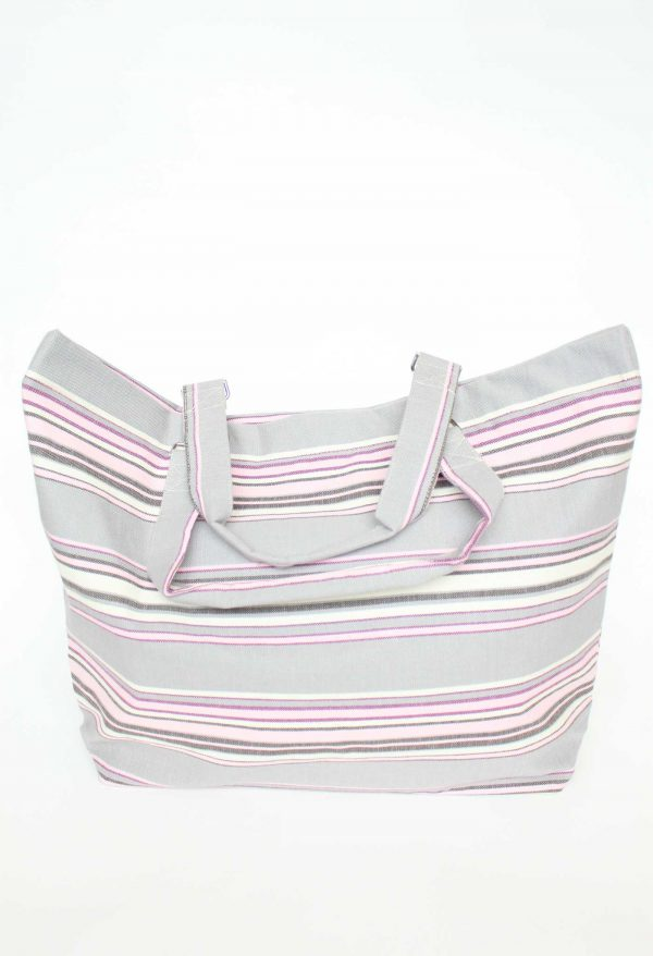 Large Beach Tote Bayadere Plastic lined