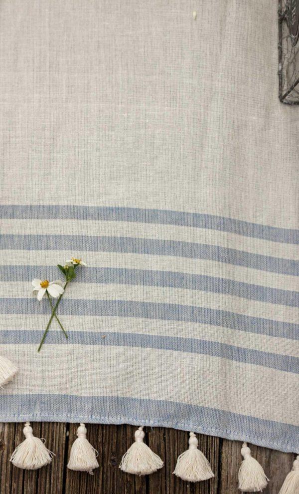Runner Bicolor Thin Stripes Pompons