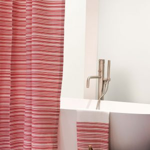 Fouta Shower Curtain Thin Stipes
