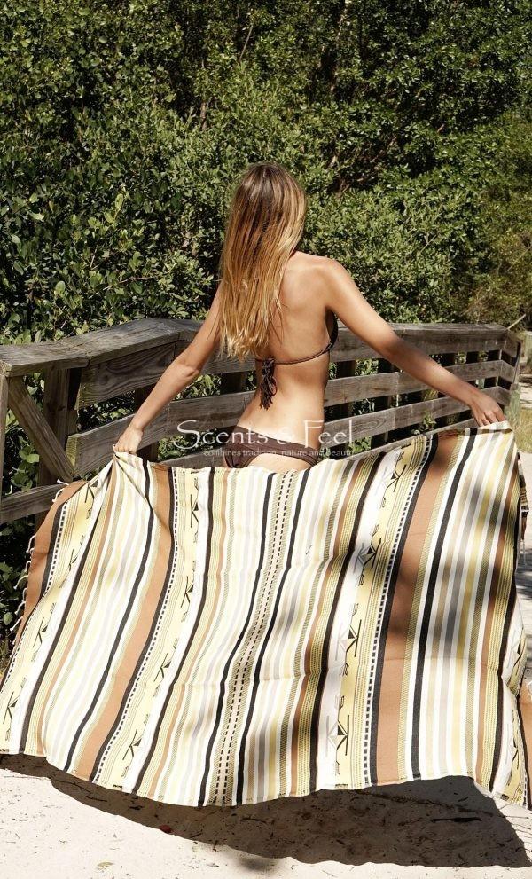 Fouta Beach Towel Boho Yellow