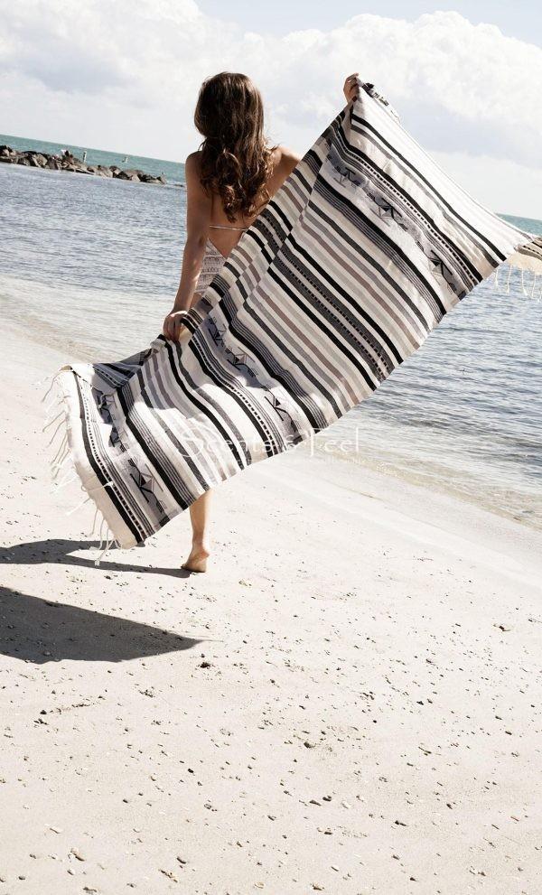 Fouta Beach Towel Boho Grey