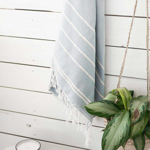 Throw Bamboo Linen Fine Stripes