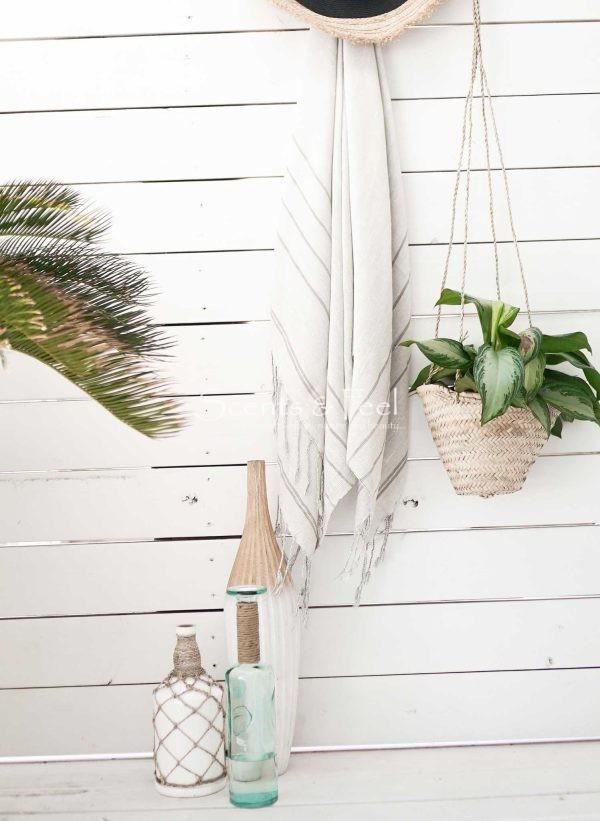 Throw Bamboo Linen Fine Stripes