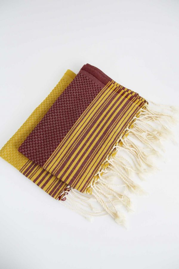 Set of 2 Guest Towel Thin Stripes