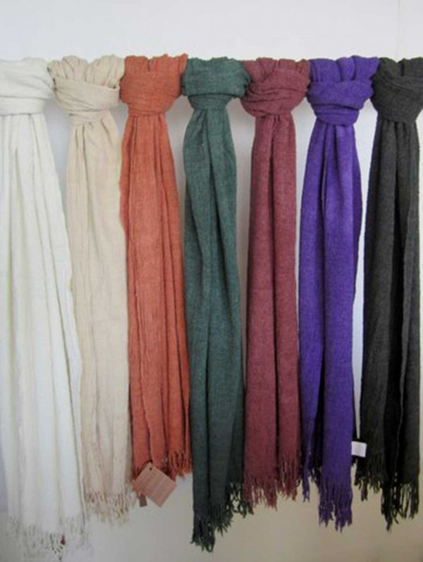 Scarf Pleated Wool