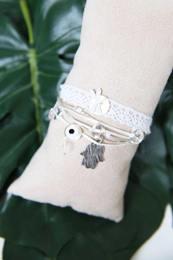 Bracelet Lace White